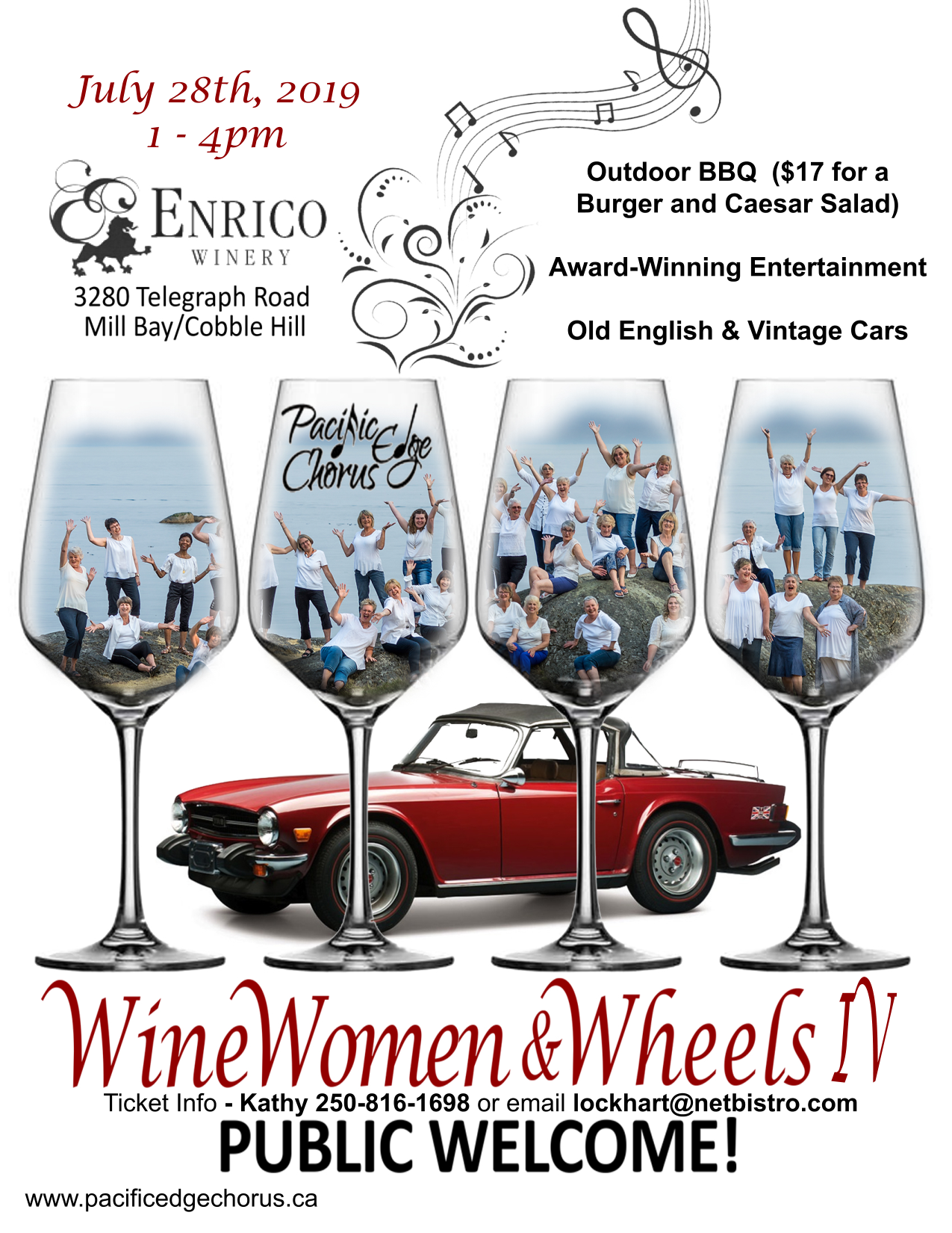 wine women wheels poster 2019