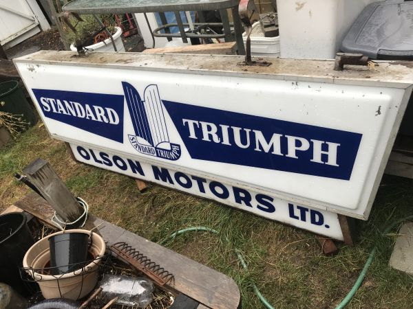 Large illuminated Standard-Triumph Sign
